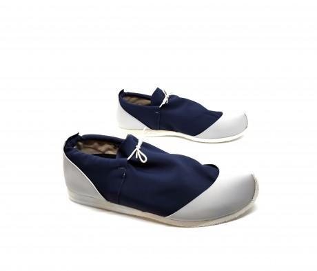 נעל ספורט נמוכה כחול + אפור בהיר - טבעוני