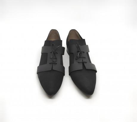 נעל חללית נובוק שחור - שחור
